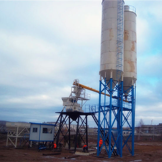 Stationary Fully Automatic Concrete Batching Plant for Sale (Hzs75) pictures & photos