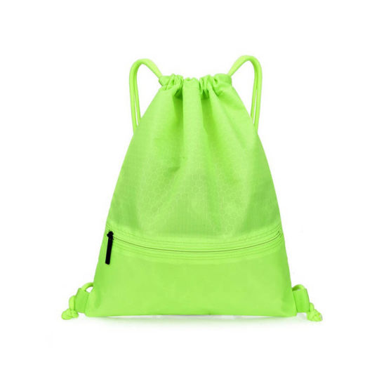 Custom Printing Logo Promotional Polyester Gym Backpack Eco Friendly Sport Drawstring Bags