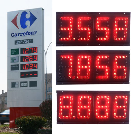 IP67 6 Inch Gas Station LED Price Sign for Advertising pictures & photos