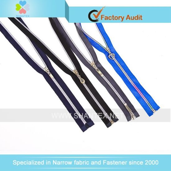 No. 5 Silver Nylon Zipper