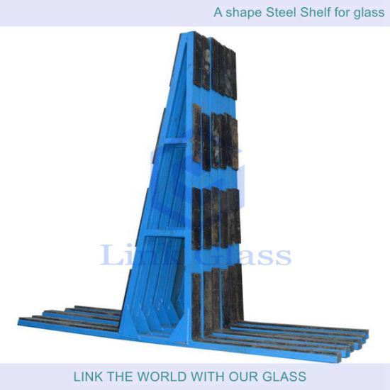 Float Glass Store with L Shape Steel Shelf pictures & photos