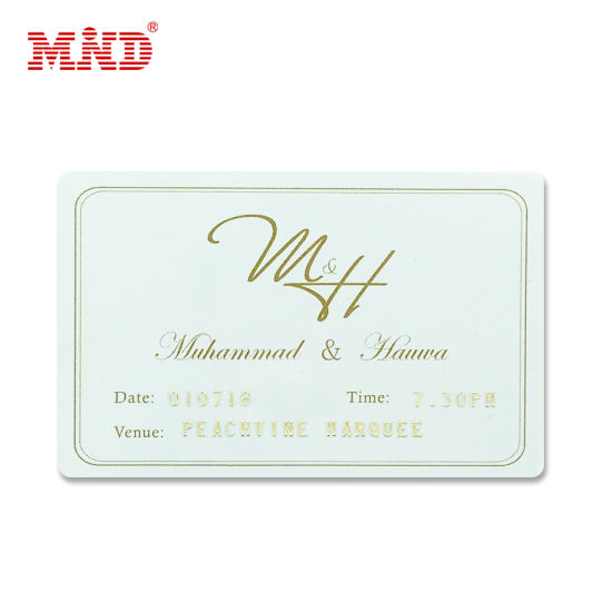 Wedding Invitation Card With Personalized Customization Pvc Card