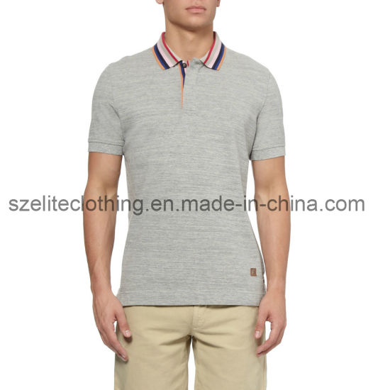 b0acaf38 OEM Service 100 Polyester Grey Polo Shirts (ELTMPJ-59) pictures & photos