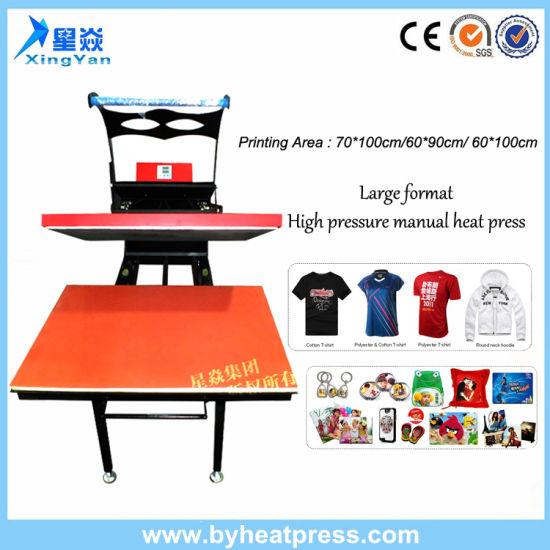 Large Format High Pressure Manual Heat Transfer Machine (70X100cm)