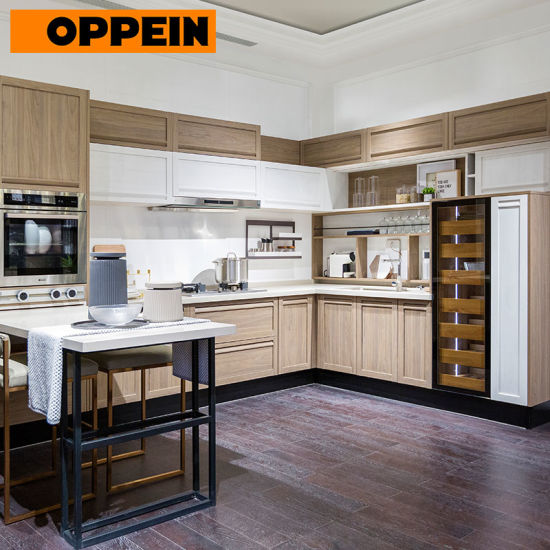 Oppein Classic Clean Simple Stunning Minimalist Design Shaker Kitchen Cabinets (PLCC18083) pictures & photos