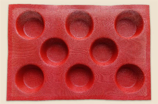 Non-Stick Silicone Perforated Baking Mat 8 Cavities for Buns Mold pictures & photos