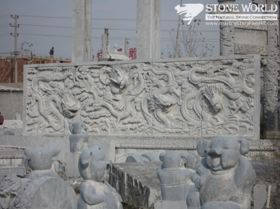 Stone Carving Relievo Panel for Wall Decoration (CV028) pictures & photos