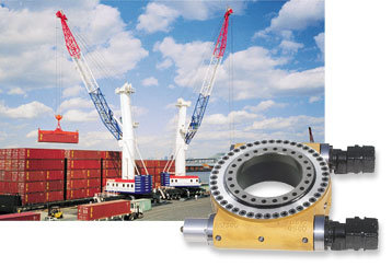 Larger Slewing Bearings Used for Deck Cranes 133.45.2500 with Internal Gear