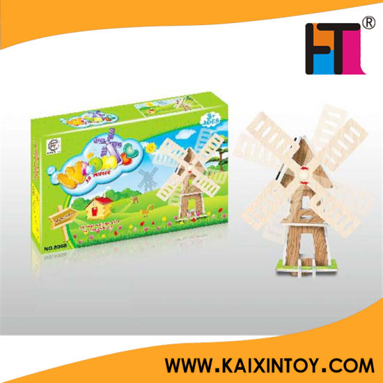 Children Paper DIY Toy Solar Energy Windmill Solar Power Toy pictures & photos