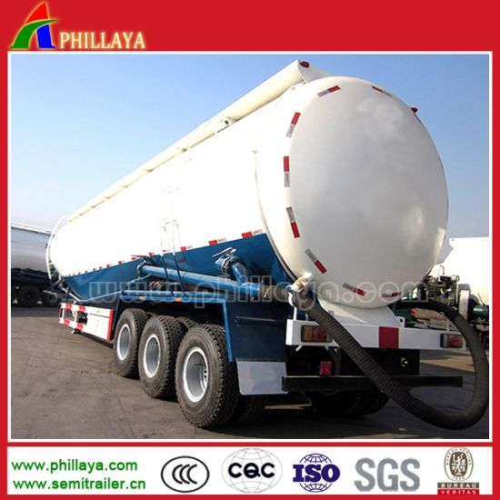 3 Axle Flour Lime Powder Bulk Cement Tanker Semi Trailer pictures & photos