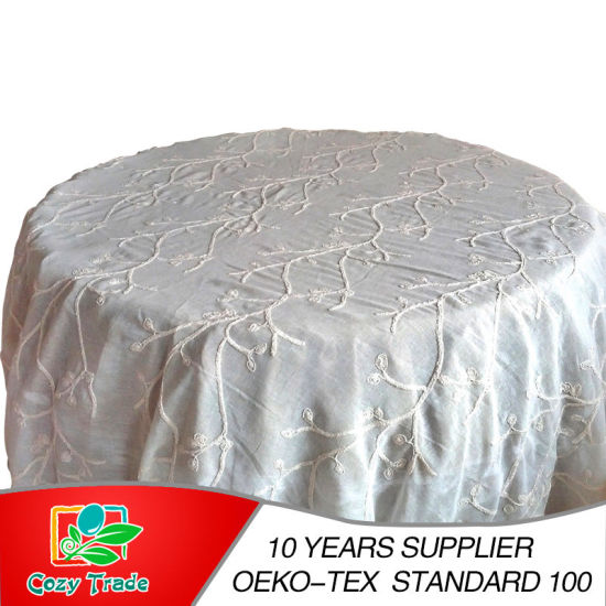 3 in 1 Embroidery, Wedding Tablecloth, Table Cover, Table Linen pictures & photos