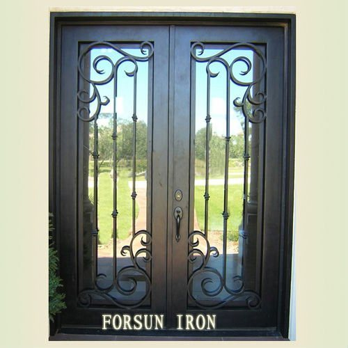 Quality Extry Door with Hand-Forged pictures & photos