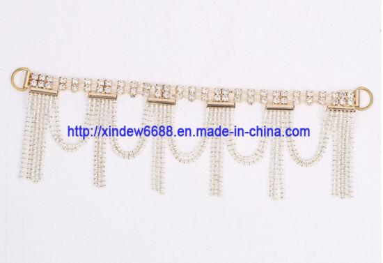 Shoe Chain Rhinestone Shoe Tring Decoration for Women Shoe
