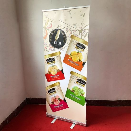 80*200cm Exhibition Booth System Backdrop Poster Stand Party Decorations Roll up Banner Display Stand