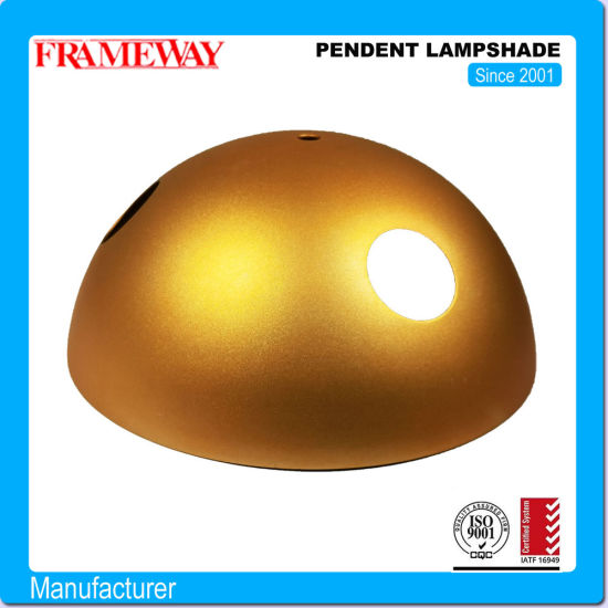 OEM/ODM Manufacturing Lighting Component Metal Pendent Lampshade Golden Foil Steel Sheet Metal Forming Deep Drawing