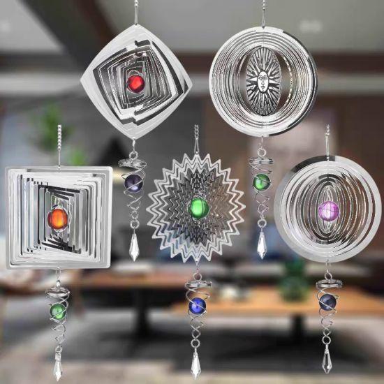 3D Melody Garden Decoration Spiral Tail Ball Wind Spinner