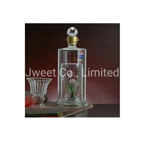 750ml Cylinder High Borosilicate Handcraft Tequila Glass Bottle