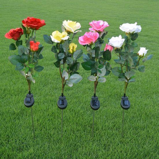 Roses Solar Garden Stake Lights Outdoor Solar Lamp