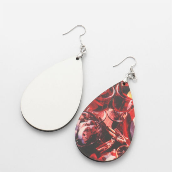 Double-Sided Blank MDF Earrings with Hardware