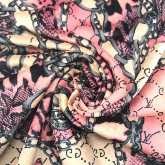Yigao Textile Hot Sale One Side Super Soft Velvet Fabric Paper Print
