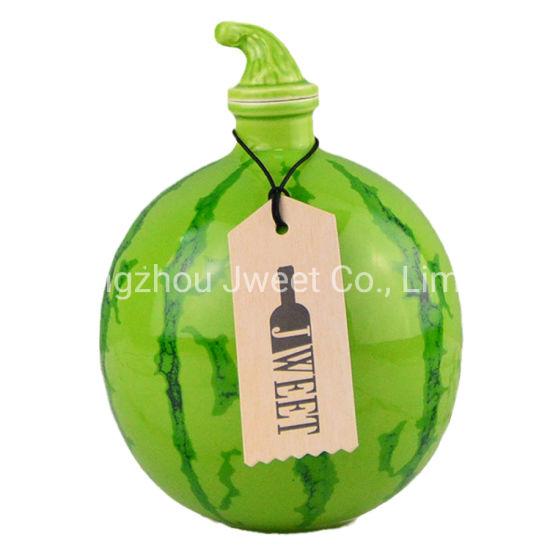 700ml Empty Watermelon Shaped Ceramic Bottle Whisky Vodka Bottles