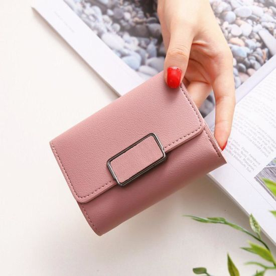 Small Size Zipper Women Short Style Wallet For Coin Card Cash Fashionable Lady Small Purse Short Female Clutch Wallet