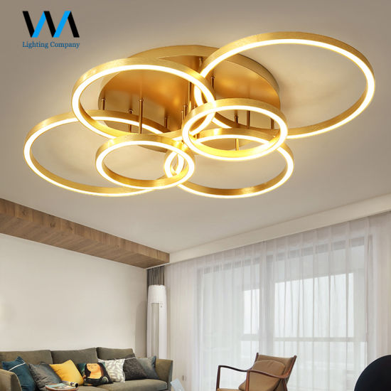 Rings Acrylic Led Ceiling Lamps