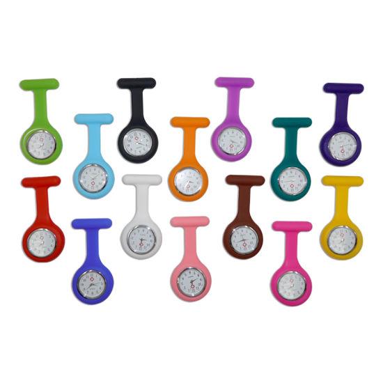 Silicone Colorful Portable Waterproof Quartz Pocket Nurse Watch
