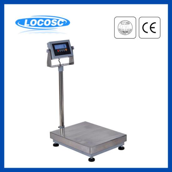 1mm 430 Stainless Steel Platform 50kg 100kg 150kg Digital Weighing Bench Scale