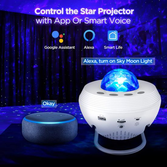 Sale of New 10 Colors WiFi Galaxy Light Projector LED