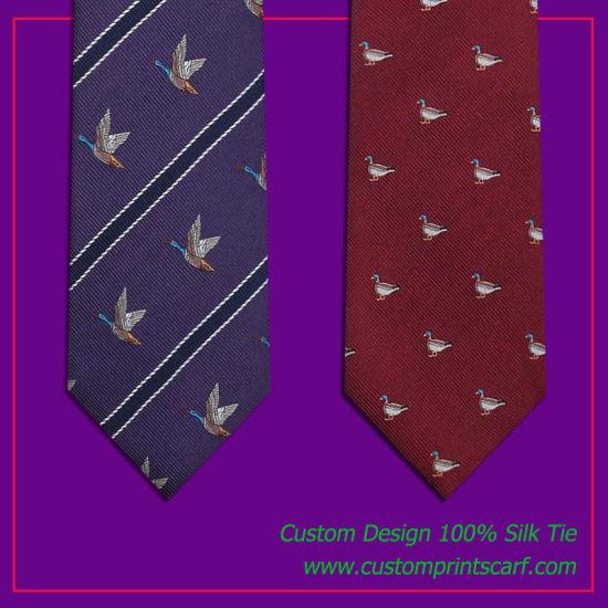 100% Silk Mens Neck Tie Custom Design Silk Jacquard Tie