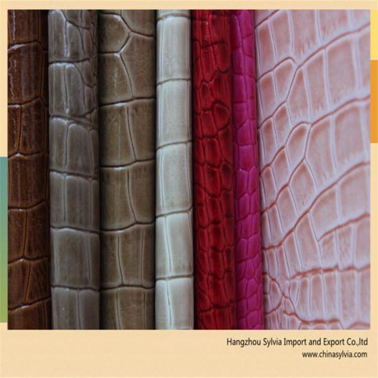 Alligator Enamel Leather Bag Fabric Material