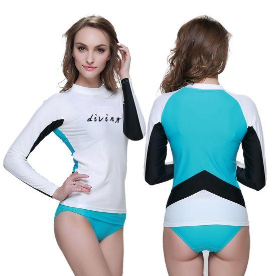 Women Rash Guards Wholesale Sun Shirt Surf Clothes Custom Rash Guard Swimwear Suit