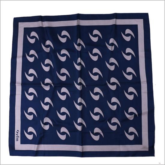 New Design Uniform Printed Silk Polyester Logo Scarf (SF-007)