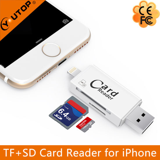 Microsd+SD OTG Card Reader for iPhone Android USB3.0 Flash Drive (YT-R008) pictures & photos