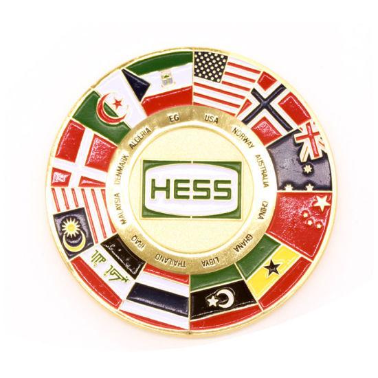 Custom Enamel United Nation Flag Souvenir Coin Logo Medal Maker Opener Coin Pendant