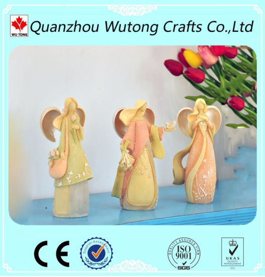 Wholesale Nice Classical Angel Figurines Resin Craft Items for Gifts