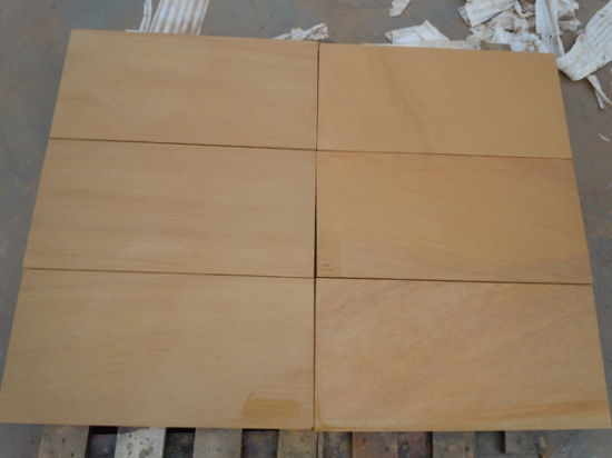 Popular Chinese Sandstone, Yellow Sandstone, Split Tile, Wall Cladding pictures & photos