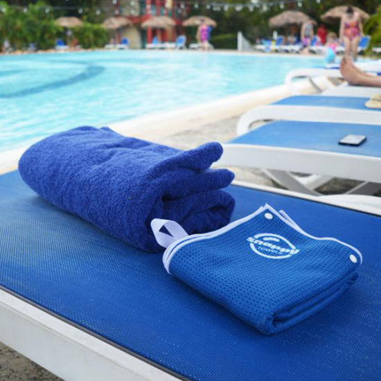 100% Cotton Terry Reactive Printing Velour Pool Towels/Swimming Towels