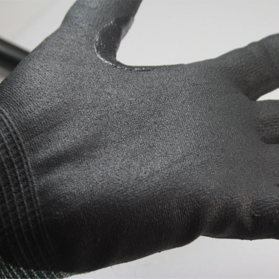 Nmsafety 18 Gauge Nylon & Glassfiber & Hppe Thin Cut Resistant Metal Working Glove pictures & photos