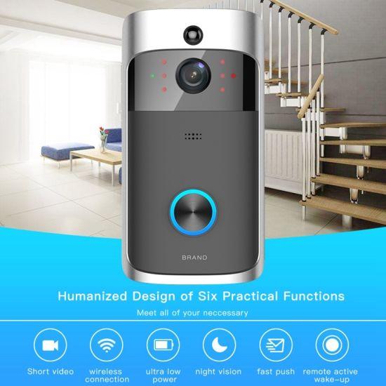 WiFi Wireless Video Doorbell Two-Way Talk Smart PIR Dor Bell Security Camera HD