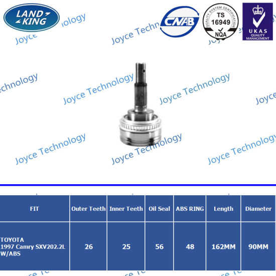 Hot Sale CV Joint for Toyota Camry 2.0L4cyl OE. 43470-39276