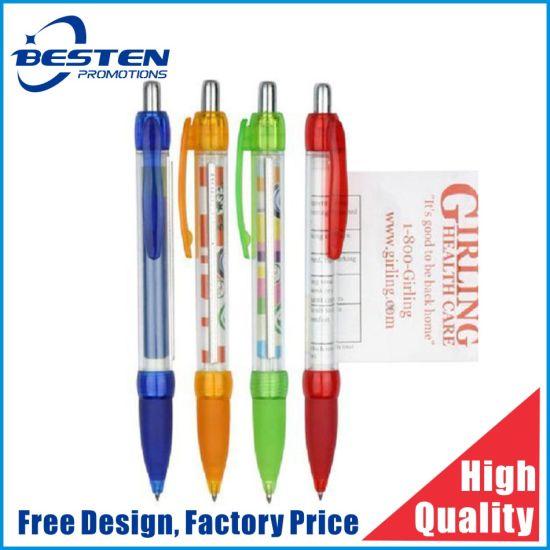 Promotion Custom Cheap Plastic Ball Point Advertising Banner Pen