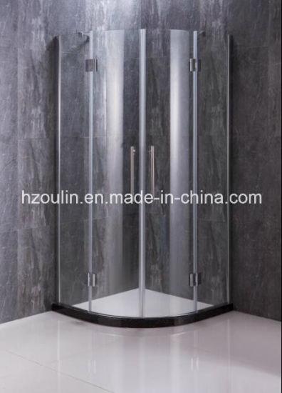 Corner Entry Shower Enclosure, 2 Hingeddoors + 2 Fixed Panels
