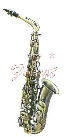 China Good Alto Saxophone, Archaized Bronze Finish
