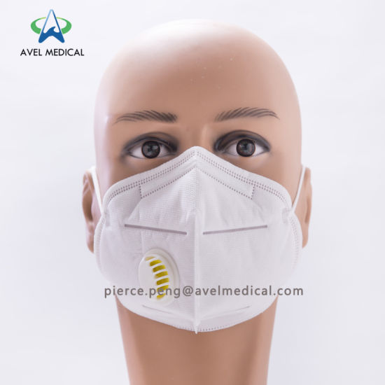 5 Valved Mouth Pm2 N95 Disposable Folding Respirator Valve Mask Vertical Nonwoven Dust With