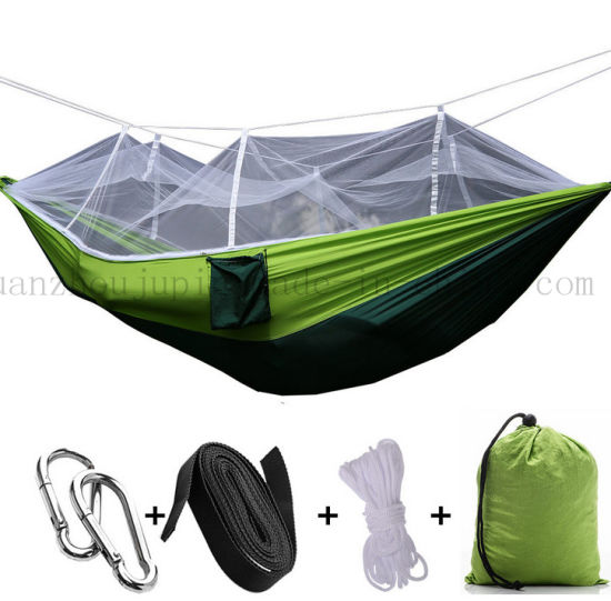 OEM Nylon Outdoor Camping Bed Hammock with Mosquito Net