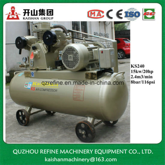 Awe Inspiring China Ks240 2 4M3 Min 8Bar 20Hp Belt Connecting Air Compressor Wiring Digital Resources Dimetprontobusorg