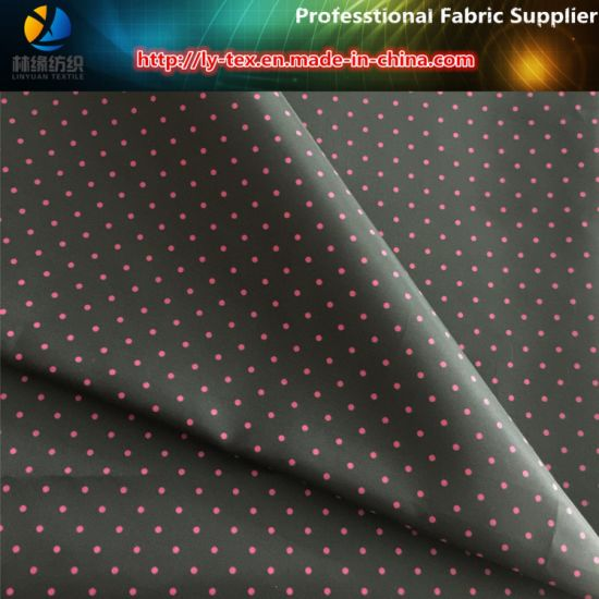 Varies Size of DOT Printing, Heart Printing, Polyester Plain Taffeta Printing Fabric pictures & photos