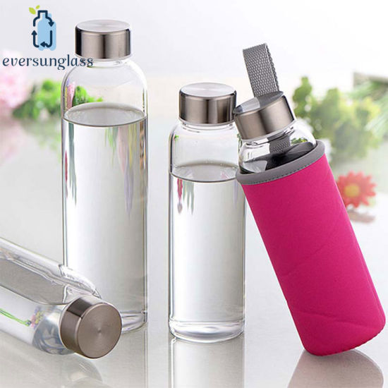 High Borosilicate Glass Water Bottle with Sleeve
